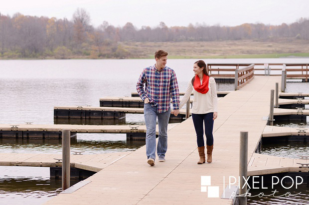 Silver Creek Metro Park,Summit Metro Parks,Youngstown wedding photographer,boat dock,engagement session,lake,
