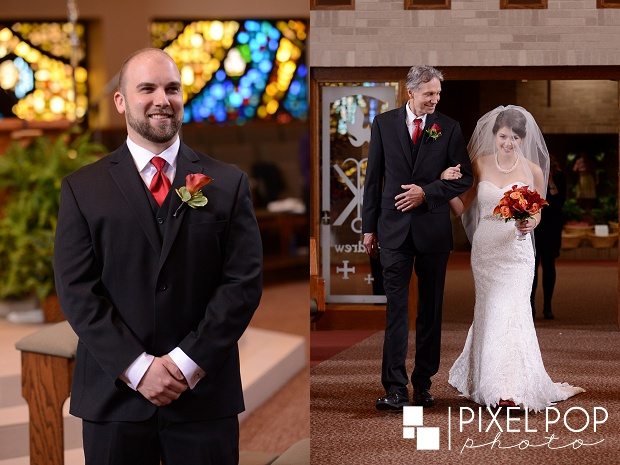 Catholic wedding ceremony,St Charles Church,The Barn and Gazebo,White Fire Restaurant,Youngstown wedding,Youngstown wedding photographer,