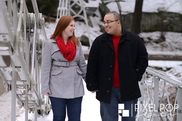 Cinderella Bridge,Cinderella Bridge engagement session,Lanterman's Mill,Lanterman's Mill engagement session,Mill Creek Park,Youngstown wedding photographer,winter engagement session,