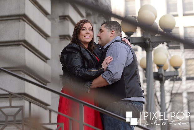 Federal Street Youngstown engagement session,Mahoning County Court House engagement session,Pixel Pop Photography,Youngstown engagement session,Youngstown wedding photographer,boardman wedding photographer,downtown Youngstown engagement session,
